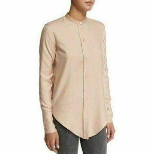 Helmut Lang Silk Twill Tuxedo Shirt